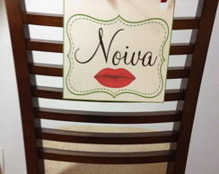 Placa Reservado Cadeira dos Noivos