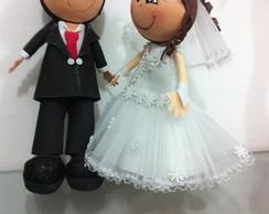 Topo de bolo Casal de noivos