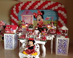 Mesa tematica Minnie vermelha