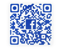 Placa Qr Code Facebook - Geek