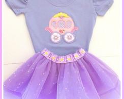 Saia tutu + camiseta princesa