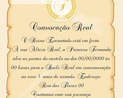 Convite Proclame (Pergaminho)