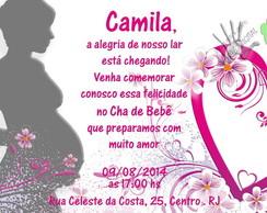 Convite Digital Ch� de Beb�