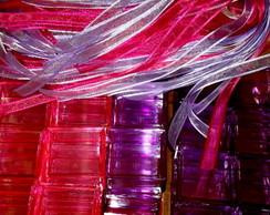 Caixinha Acr�lica 5x5x3 decorada