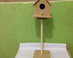 Casa passarinho com pedestal