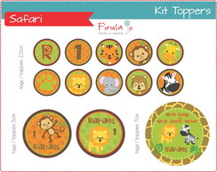 Kit Digital Toppers Safari