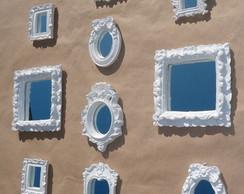 10 molduras brancas com espelho