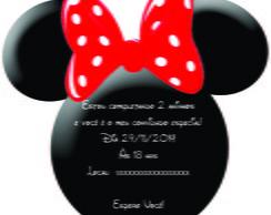 Convite Rostinho Minnie