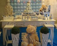Ch� de Bebe Proven�al Ursos Azul e Branc