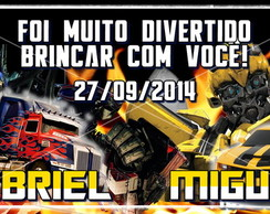 Kit 40 Tags adesivos Transformers