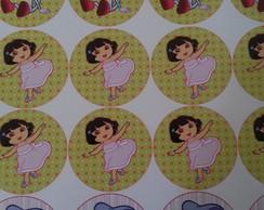 24 Adesivos Dora Aventureira 4.8 cm
