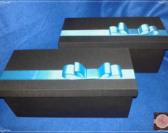 Caixa em MDF forrada de tecido
