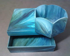 Conjunto caixas Betume Azul