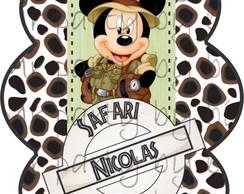 R�tulo Tubete Mickey Safari - 2