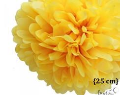 Pompom Seda - Amarelo { 25cm }