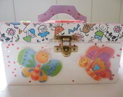 Caixa maleta infantil para meninas