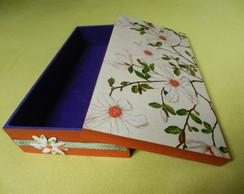 Caixa retangular Flor de Pano