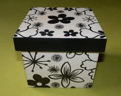 Caixa quadrada peq Flores 1