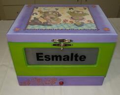 Caixa para esmaltes com gaveta