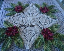 centro de mesa abacaxi com flores