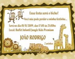 Convite Jungle / Safari (tipo 2)