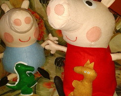 Bonecos da Peppa e do George