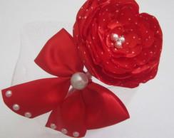 Tiara Flor e La�o Vermelha