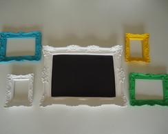 Kit lousa+espelhos coloridos