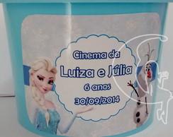 Balde De Pipoca Personalizado Frozen