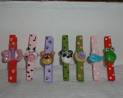 Prendedores decorados com biscuit
