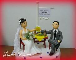 Topo de bolo - Casamento Tathy e Diego