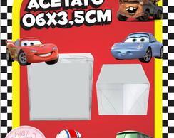 Caixinha de Acetato Carros Disney