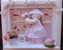 Quadro Maternidade Beb� Boneca Camponesa