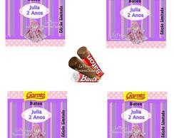 Rotulo Chocolate Baton Boneca de Pano