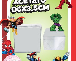 Caixinha de Acetato Super Hero Squad