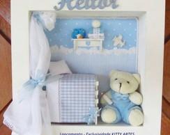 Urso com cortina - Enf.porta Maternidade
