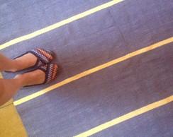 Tapete listras - cinza e amarelo