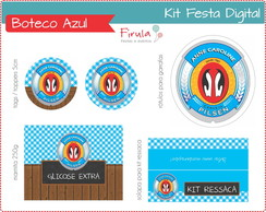 Kit Festa Digital Boteco Azul