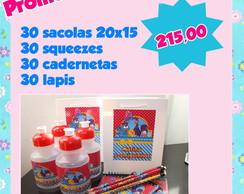 Kit festa 30 unidades de cada item
