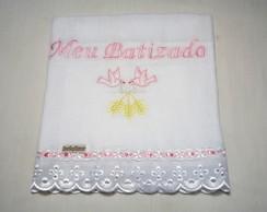 Fralda Meu Batizado (Rosa)