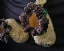 Sapatinho de Croch� Le�ozinho