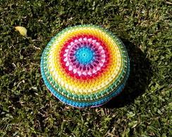 Almofada\Pillow Crochet Circle Mandala