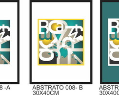 QUADRO DECORATIVO - POSTER ABSTRATO 008