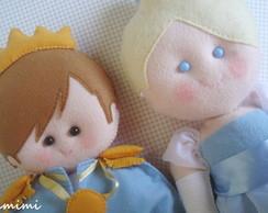 Enfeite de mesa Cinderela e Principe