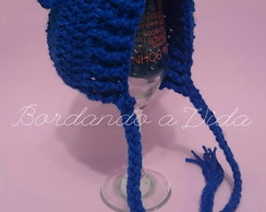 Touquinha Ursinho Teddy Azul Escuro
