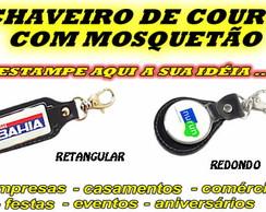 CHAVEIRO DE COURO COM MOSQUET�O PERSONAL