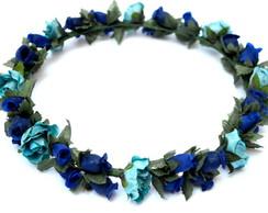 COROA DE FLORES ALL BLUE