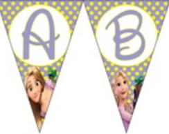 Bandeirola da Rapunzel