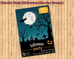Convite Halloween Dia das Bruxas