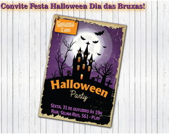 Convite Dia das Bruxas Halloween PARTY